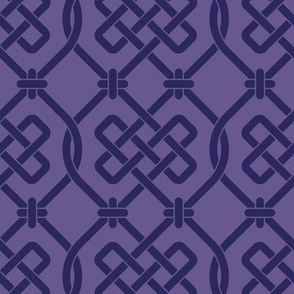 Purple Celtic Knot Lattice