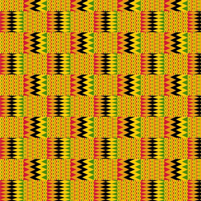 Zig Zag Kente Cloth