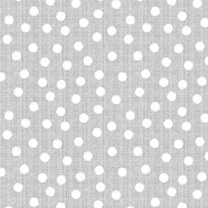 snowballs-polka dots-gray