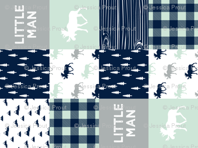 little man patchwork quilt top (90) || the northern lights collection