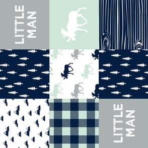 little man patchwork quilt top (90) || the northern light collection
