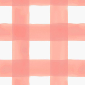Watercolor Buffalo Check // Peach