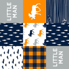 little man patchwork quilt top (90) || the great outdoors collection