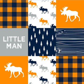 little man patchwork quilt top || the great outdoors collection
