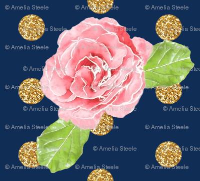 Glitter Roses // Navy