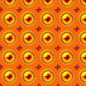 Allan's fleur de lis orange