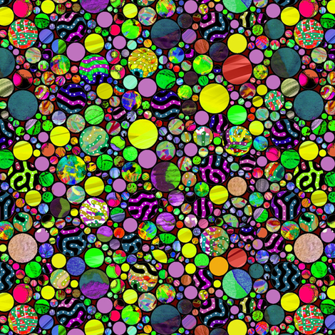 PROFUSION CIRCLES BUBBLES SPRING GREEN fabric by paysmage on Spoonflower - custom fabric