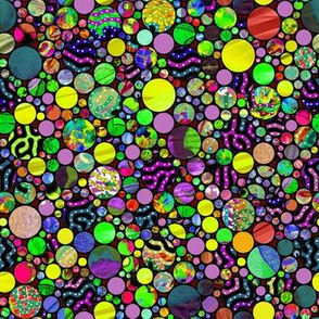 PROFUSION CIRCLES BUBBLES SPRING GREEN