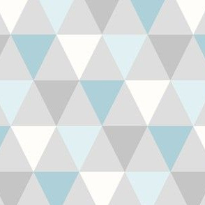 Triangle - Teal & Grey