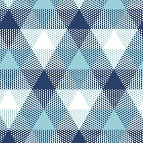triangle gingham - navy, light blue and white