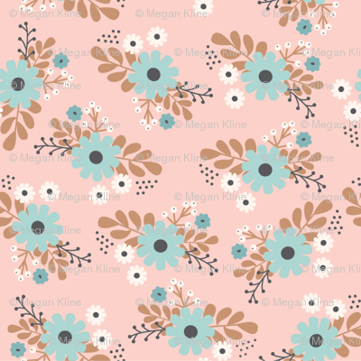 pink floral bunches