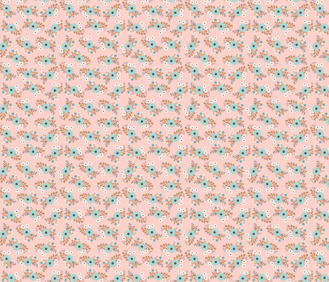 pink floral bunches fabric by megan_kline on Spoonflower - custom fabric