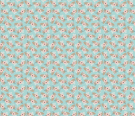 blue floral bunches fabric by megan_kline on Spoonflower - custom fabric