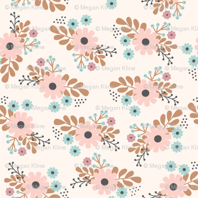 cream floral bunches