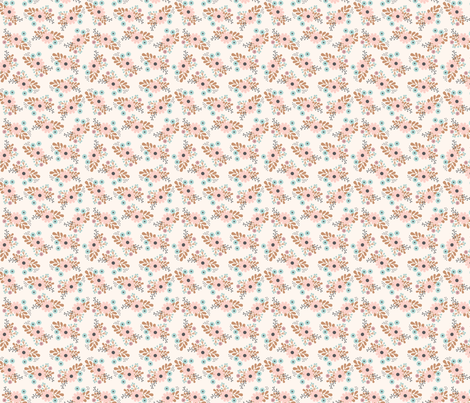 cream floral bunches fabric by megan_kline on Spoonflower - custom fabric