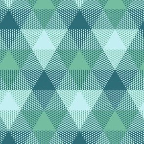 triangle gingham in soft aqua
