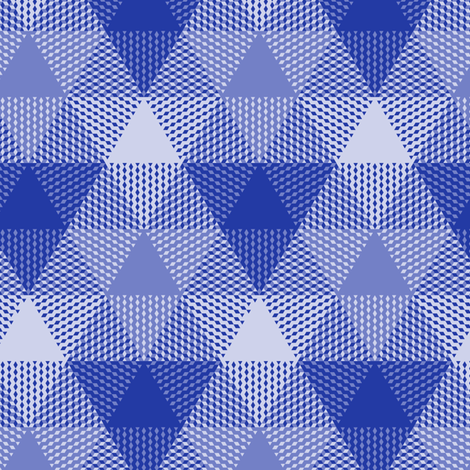 triangle gingham in morning blue fabric by weavingmajor on Spoonflower - custom fabric