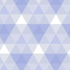 triangle gingham in lavender