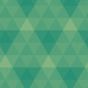 triangle gingham in green-gold