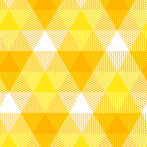 triangle gingham - gold, yellow and white fabric by weavingmajor on Spoonflower - custom fabric