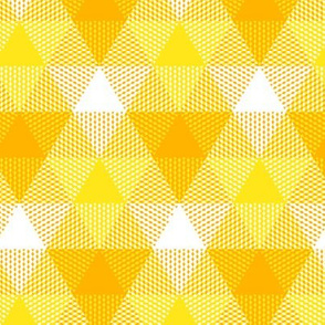 triangle gingham - gold, yellow and white