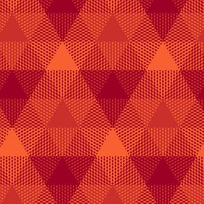 triangle gingham - ruby red