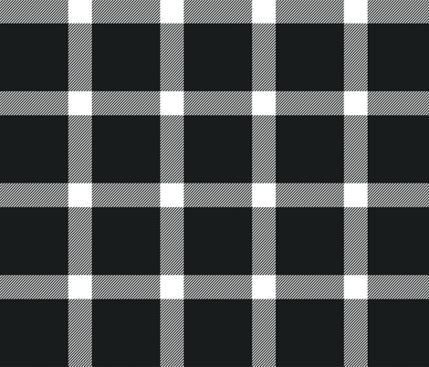 Buffalo Check Black, Christmas '16 Collection fabric by acdesign on Spoonflower - custom fabric