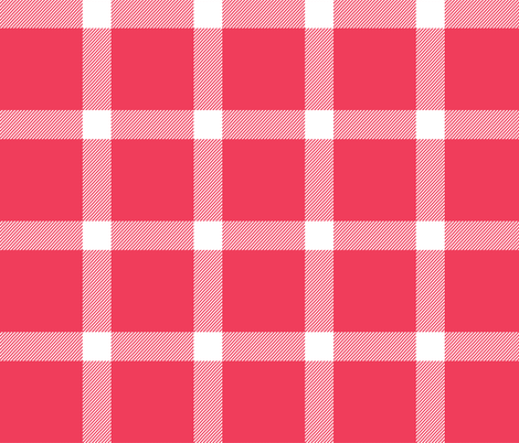 Buffalo Check Gingham Red - Christmas 16' fabric by acdesign on Spoonflower - custom fabric