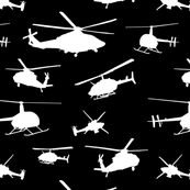 Helicopter Silhouettes - Black