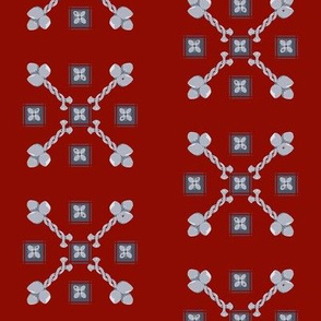 Spoonflower Coat of Arms, Burgundy