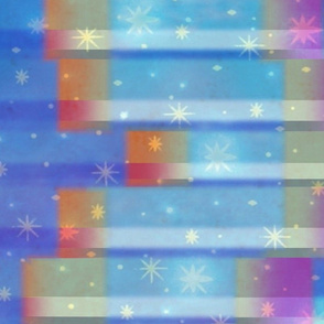 Ombre Starry Night Border