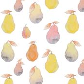 Pastel Watercolor Pears