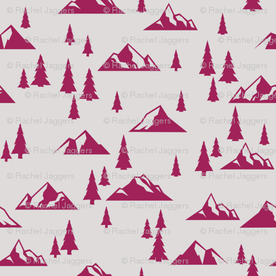 Magenta Mountains Accent
