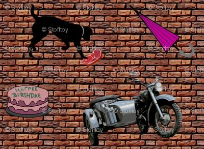 motorbike bmw 500 - painting effect