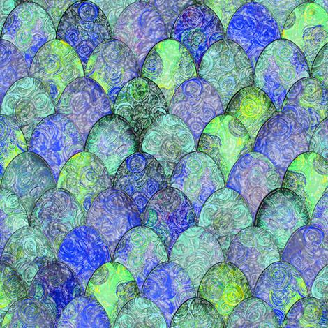 Sea foam: impressionist Easter eggs by Su_G fabric by su_g on Spoonflower - custom fabric