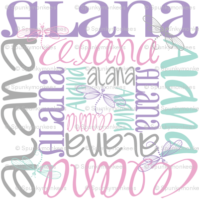 personalised name design - spiral with pic