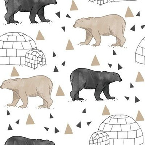 polar_bears___igloos__grey_black___taupe