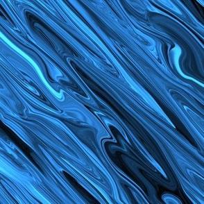Liquid Blue Marble, Diamonds on Point, Large Scale