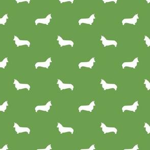 asparagus green corgi silhouette dog fabric cute dog design pets fabric for sewing