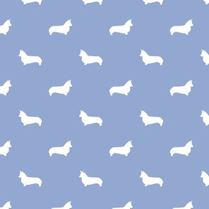 cerulean corgi silhouette dog fabric cute dog design pets fabric for sewing