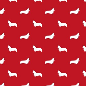 fire red corgi silhouette dog fabric cute dog design pets fabric for sewing