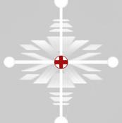 Swiss Christmas Snowflake red