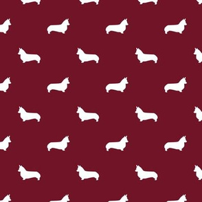 ruby red corgi silhouette dog fabric cute dog design pets fabric for sewing