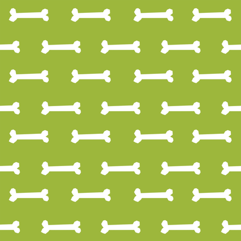 lime green dog bone fabric dogs pet dog design coordinating fabric fabric by petfriendly on Spoonflower - custom fabric