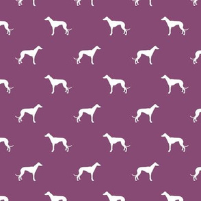amethyst greyhound dog silhouette fabric