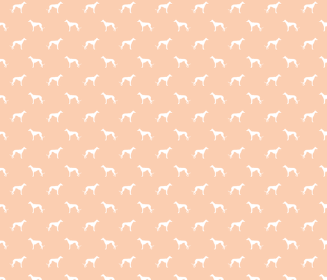 apricot greyhound dog silhouette fabric fabric by petfriendly on Spoonflower - custom fabric