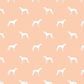 apricot greyhound dog silhouette fabric