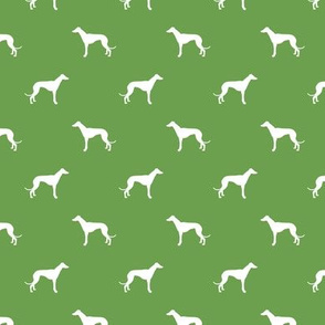 asparagus green greyhound dog silhouette fabric