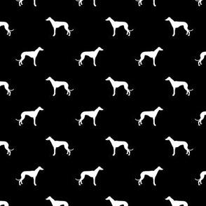 black greyhound dog silhouette fabric
