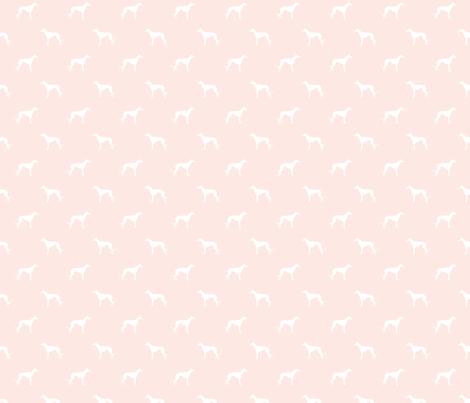 blush greyhound dog silhouette fabric fabric by petfriendly on Spoonflower - custom fabric